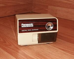 Vintage Panasonic kp 110 Auto stop Electric Pencil Sharpener W Suction Feet