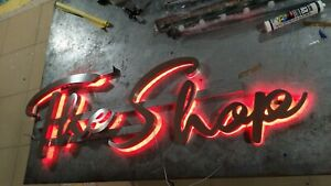 Customized Painted Metal Led Front Light Channel Letters Outdoor Sign Reverse