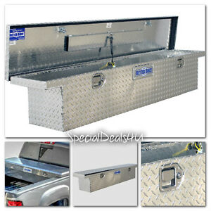 Truck Bed Tool Storage Aluminum Low Profile Full Size Slimline Box Toolbox Car