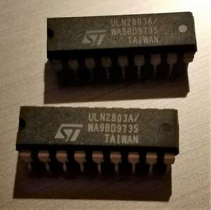 St Micro Electronics Uln2803a Darlington Array 18 Pin Dip Tube Of 20