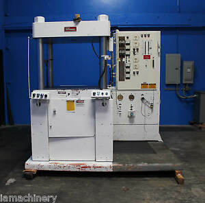 250 Ton Stokes Pennwalt Hydraulic Upacting Press 12 Stroke 44 x42 Bed