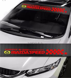 Mazdaspeed Windshield Carbon Fiber Vinyl Banner Decal Sticker 4 Mazda Speed 51