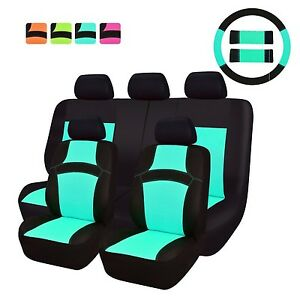 New Arrival Car Pass Rainbow Universal Fit Car Seat Cover 100 Breathable W