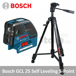 Bosch Gcl 25 Self Leveling 5 point Alignment Laser Gcl25 Bt150 Tripod