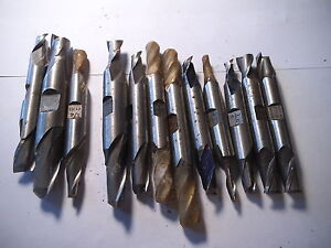 Lot Of 12 Double End Mills Mixed Sizes New Used