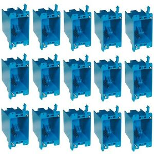 15 pc 20 Single gang Wall Outlet Switch Old work Plastic Electrical box Remodel