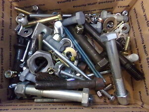 Mixed Lot Of Bolts Nuts Washers Lockwashers 59 Lbs Lot 2 New old Stock