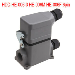 Set Hdc he 006 3 He 006m He 006f 6 pin Heavy Duty Connector Side Single loc