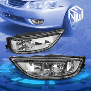 Chrome Clear Front Bumper Driving Fog Light Lamp For 2001 2002 Toyota Corolla