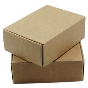 Kraft Paper Box Packing Party Wedding Favour Gifts Candy Handmade Jewelry Boxes