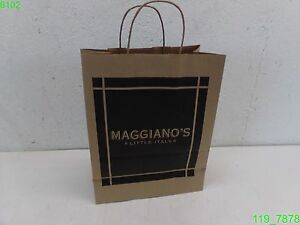 Maggiano s 10x5x13 Brown Paper With Handle Bags 250 Ct New