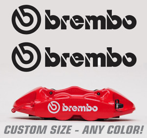 2pc Brembo Brake Caliper Decal Sticker Logo Evo Sti Z33 High Temp Renegadelife