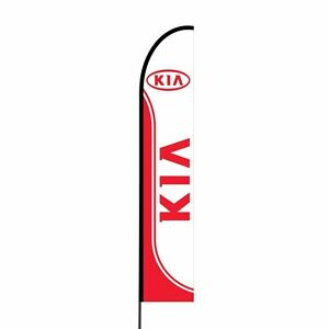 Kia Feather Flags Swooper Outdoor Advertising Sign Banner Kit 15