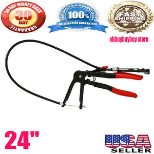 24 Hose Clamp Pliers W Flexible Wire Fuel Oil Water Hose Hand Tool On Sale Uek
