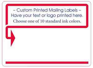 1 000 Custom Printed Mailing Labels 1 Ink Color 4 X 3 Shipping Box Stickers