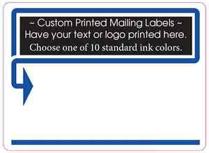 Custom Printed Shipping Labels 10 000 Mailing Stickers 1 Color 4 X 3 Business