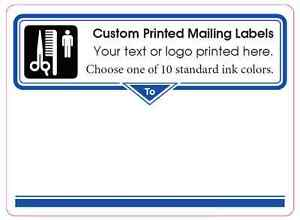 Printed Mailing Labels 1 000 Custom 4 X 3 Shipping Box Stickers 1 ink Color