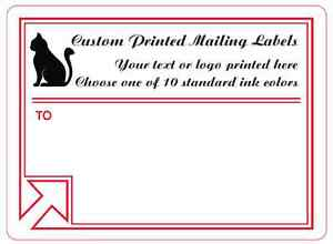 Printed Mailing Labels 1 000 Custom 4x3 Business Shipping Stickers 1 ink Color