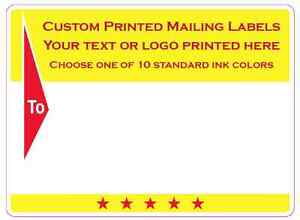 Printed Shipping Labels 10 000 Custom Mailing Stickers 1 Color 3 X 4 Rolls