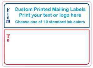 Printed Mailing Labels 2000 Custom Shipping Stickers 4 X 3 1 Color On Rolls