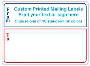 10 000 Shipping Labels Custom Printed Mailing Stickers 1 Color 3 X 4 Rolls