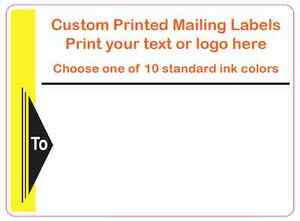 Printed Shipping Labels 2000 Custom Mailing Stickers 4 X 3 1 color On Rolls