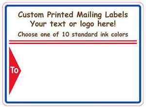 5000 Printed Custom Labels Business Mailing Shipping Stickers 1 color 4 X 3