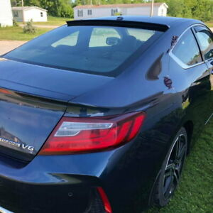 Glossy Black Vrs Type Rear Roof Spoiler Wing For 2013 2018 Honda Accord Coupe