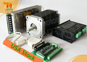 Wantai 1axis Nema34 Stepper Motor 85bygh450c 1700oz 151mm 6a Cnc Kit