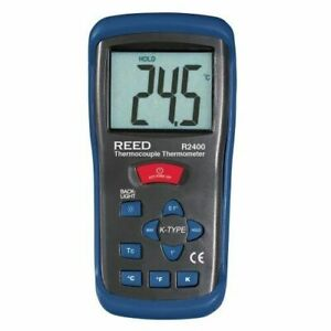 Reed R2400 Type K Thermocouple Thermometer 58 To 2000 f 223 To 2000 Kelvin