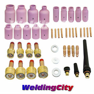 Tig Welding Gas Lens Kit 040 1 16 3 32 1 8 Torch 17 18 26 T28 Us Seller Fast