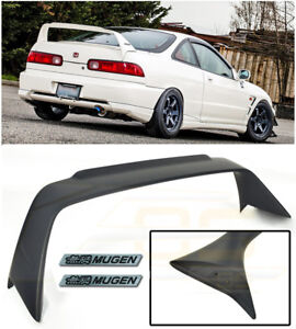 Mugen Style Rear Lid Wing Spoiler Black Emblem Pair For 94 01 Acura Integra Dc2