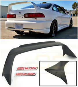 Mugen Style Rear Lid Wing Spoiler Red Emblem Pair For 94 01 Acura Integra Dc2
