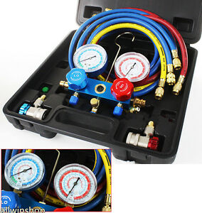 Ac Refrigeration Kit A c Manifold Gauge Set Air R134a R12 R22 R502 Ejk