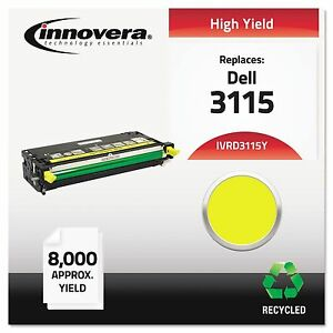 Innovera D3115y Remanufactured 310 8401 3115 Toner 8000 Yield Yellow