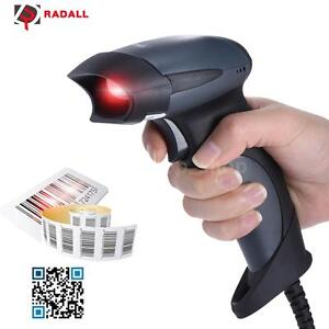 Usb Wired Barcode Scanner Scan Gun Label Bar Code Reader Pos System Store A5w0