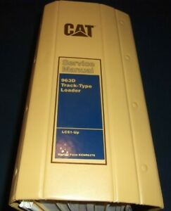 Cat Caterpillar 963d Track Loader Service Shop Repair Book Manual S n Lcs1 up