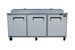 New 3 Door Refrigerated Pizza Prep Table 72