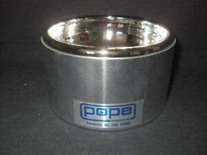 Pope Hemispherical 275ml Full Aluminum Glass Low Form Dewar Flask 8120