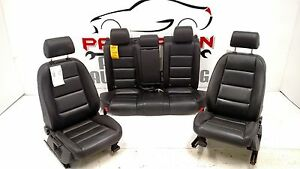 2003 Audi A4 Leather Seats Left Right Front Bucket And Rear Black La Manual