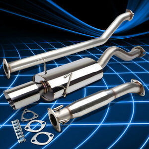 4 Oval Rolled Muffler Tip Stainless Catback Exhaust For 2002 2006 Rsx Dc5 Type S
