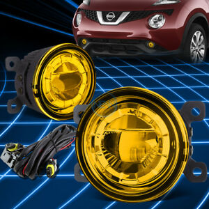 Amber Yellow 3 5 round Led Projector Highpower Fog Light Lamp switch mount Kit