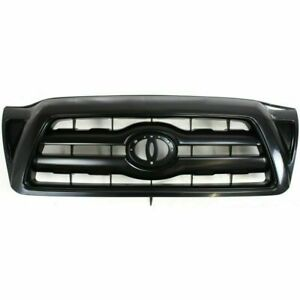 New To1200279 Textured Dark Gray Insert Grille For Toyota Tacoma 2005 2010