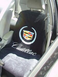 One 2010 2017 Cadillac Logo Black Seat Cover Seat Armour Towel Ats Cts Escalade