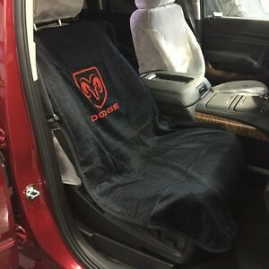 1994 2018 Dodge Ram 1500 Black Seat Cover Seat Armour Towel Red Rams Head New