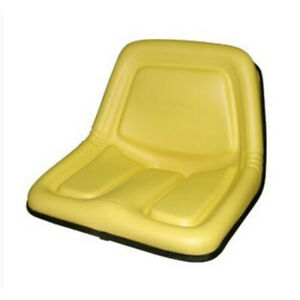 Ty15863 Seat Assembly High Back Vinyl Yellow For John Deere 322 330 332 420 430