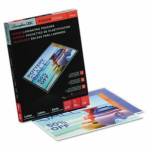 Swingline Gbc 3200599 Ezuse Thermal Laminating Pouches 10 Mil 11 1 2 X 9