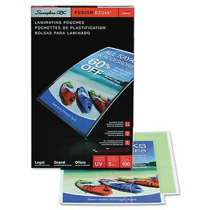 Swingline Gbc 3740473 Ezuse Thermal Laminating Pouches 5 Mil 9 X 14 1 2