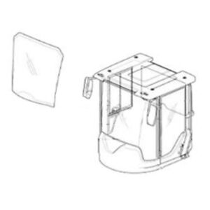 11104449 Front Windshield With Banding Fits Volvo Wheel Loader L50d L70d