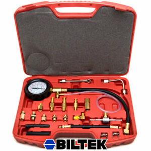 0 140 Psi Fuel Injection Pump Injector Tester Test Pressure Gauge Gasoline Cars